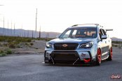 Custom Body Elements and Orange Accents Add Lots of Visual Candy to Stanced Subaru Forester