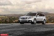 Silver Subaru Outback Rocking a Set of Polished Avant Garde Wheels