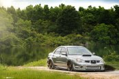 Slammed Gray Subaru WRX Gets Stunning Body Kit