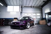 Purple Subaru WRX Stanced Out and Fitted with Custom Parts