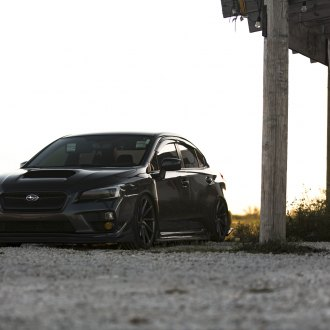 Front Bumper with Fog Lights on Black Subaru WRX - Photo by Vossen