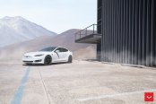 Panoramic Roof and Black Vossen Rims Highlight Dramatic Appearance of Model S
