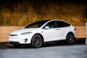 Red Center Caps, Calipers and Emblem Add Stylish Accents to Hi-Tech Tesla Model X