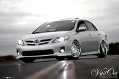 Dominating Gray Toyota Corolla Put on Avant Garde Rims
