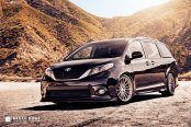 Head- Turning Black Toyota Sienna Dressed Up in Body Kit and Chrome Avant Garde Wheels