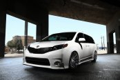 Disguised White Lowered Toyota Sienna