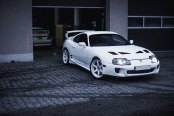 Snow Leopard: Custom White Toyota Supra Wears White JR Wheels
