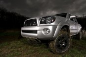 Revised Front End of Silver Toyota Tacoma