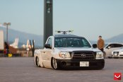 Wicked Toyota Tacoma Stanced Out and Put on Custom Rims