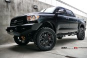 Lifted and Prepared for Off-Road Customized Black Toyota Tundra