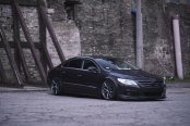 Beast ModeOn: Stealthy Black VW CC Featuring Crystal Clear Headlights
