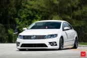 Nice White Volkswagen CC with the Revised Fascia
