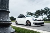 Stanced VW Golf on Air Suspension With Unique Rotiform Rims
