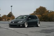 Fully Custom VW Golf MK5 Fitted With Large Rotiform Custom Wheels