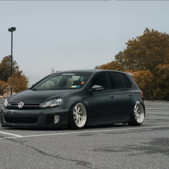 Black Lowered Vw Golf With Dark Smoke Headlights Photo By Rotiform