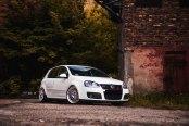 White VW Golf GTI Sporting Exclusive Silver JR Rims