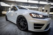 Glossy White VW Golf Reworked to Awe with Contrasting Black Accents