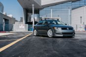 Graphite Gray Jetta Stanced on TSW Machined Custom Wheels