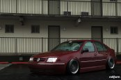 Slammed Jetta MK4 Sitting Low on Rotiform Custom Wheels