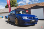 Matte Blue VW Jetta Customized to Steal the Attention