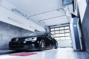Mean Black VW Jetta Reworked with Aftermarket Bumper, Side Skirts and Rear Diffuser