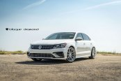 Stylish Transformation of White VW Passat with Aftermarket Parts