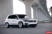 Extreme Ride Height on VW Tiguan Fitted With Vossen Wheels
