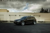 Black VW Tiguan Put on Silver Blaque Diamond Rims