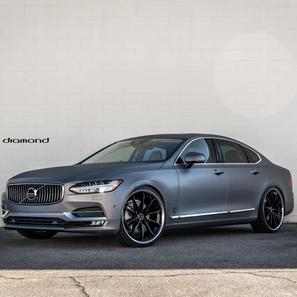 Chrome Billet Grille on Gray Matte Volvo S90 - Photo by Blaque Diamond