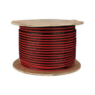 Install Bay® - Speaker Wire, Red-Black Paired, Coil of 500'