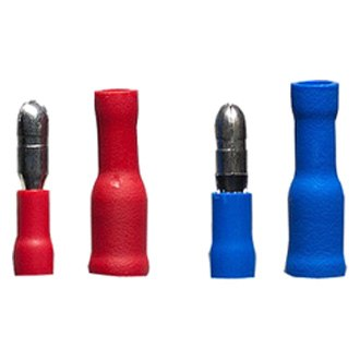 Install Bay® - 22/14 Gauge Blue and Red Male/Female Bullet Connectors (24 Per Pack)