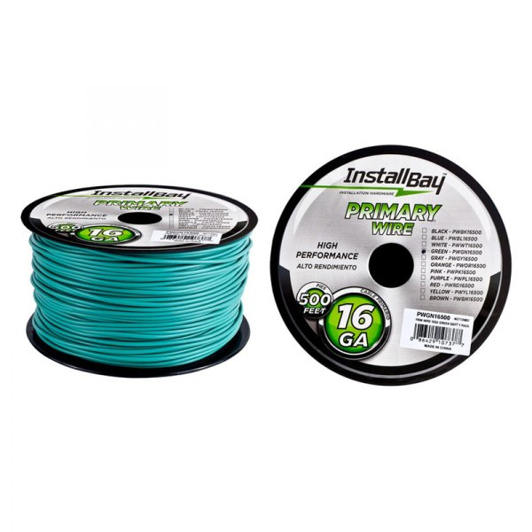 Install Bay® - 16 Gauge 500' Green Primary Wire