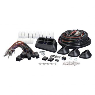 Install Bay® - 4 Door 7 Switch Kit Illuminated, Euro Pod Style