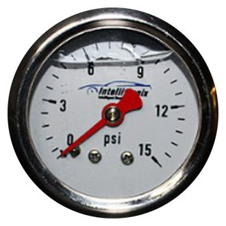 "Intellitronix® - 1-1/2"" Analog Liquid Filled Fuel Pressure Gauge, 0-15 PSI"