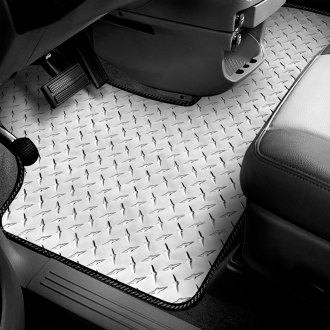 Intro-Tech® - Diamond Plate 1st Row Floor Mat