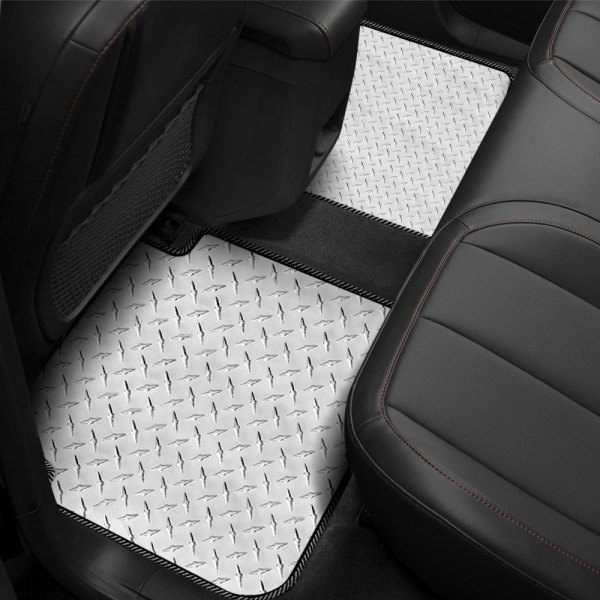 Intro-Tech® - 2nd Row 2 Piece Diamond Plate Mat