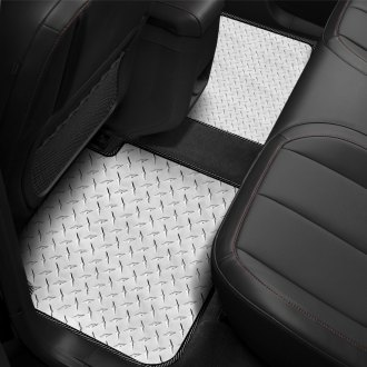 Intro-Tech® - Diamond Plate 2nd Row Floor Mats