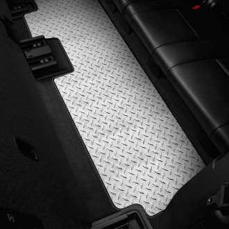 Intro-Tech® - Diamond Plate 3rd Row Floor Mat