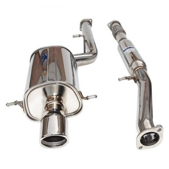 Invidia® - Q300 Stainless Steel Cat-Back Exhaust System with Stainless Steel Rolled Tip