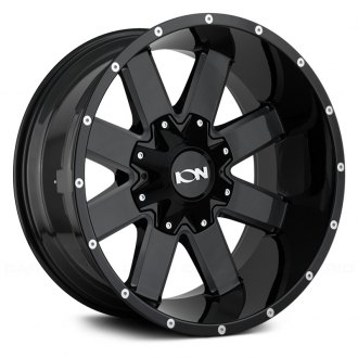 ION ALLOY® - 141 Gloss Black with Milled Spokes