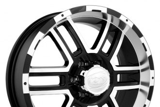 "ION ALLOY® - 179 Black with Machined Face and Lip (17"" x 8"", +10 Offset, 8x165.1 Bolt Pattern, 130.8mm Hub)"