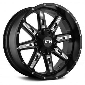 ION ALLOY® - 184 Satin Black with Milled Spokes