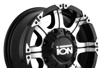 "ION ALLOY® - 187 Black with Machined Face and Lip (16"" x 8"", +10 Offset, 8x170 Bolt Pattern, 130.8mm Hub)"