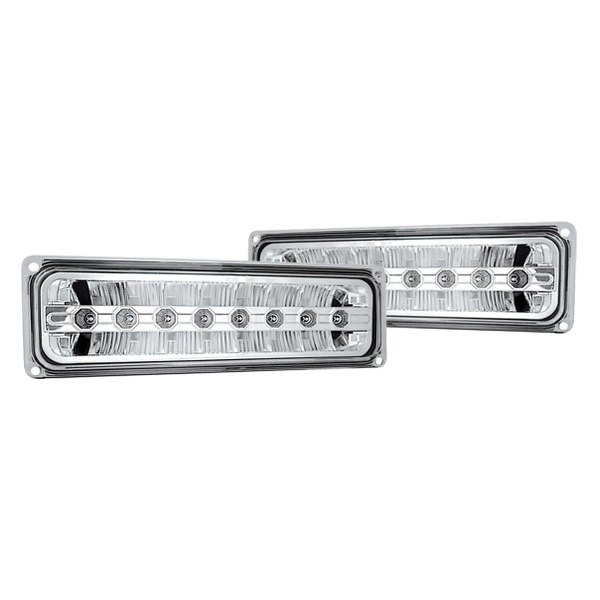 IPCW® - Chrome Euro Bumper Lights with LEDs