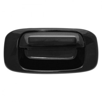 IPCW® - Black Tailgate Handle with Red LEDs with Smoke Lens and Bezel