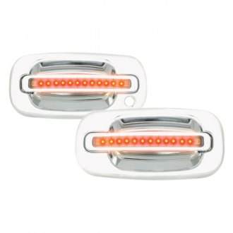 IPCW® - Front Chrome Door Handles with Red LEDs