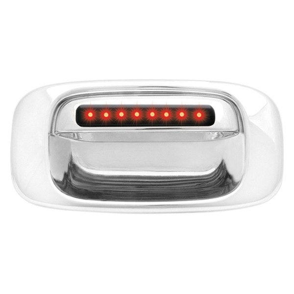 IPCW® - Chrome Tailgate Handle with Red LEDs with Smoke Lens and Bezel