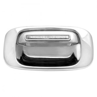 IPCW® - Chrome Tailgate Handle with Bezel and Red LEDs