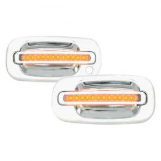IPCW® - Front Chrome Door Handles with Amber LEDs