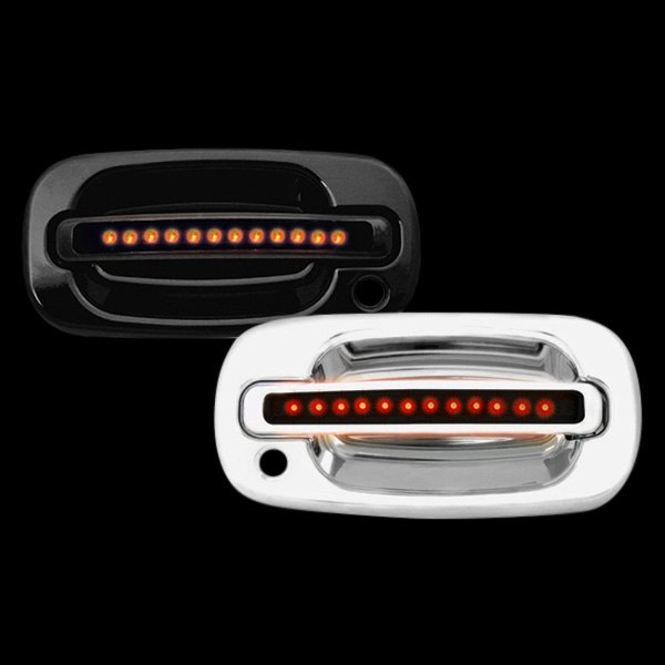 IPCW® - Chrome Door Handles with Red LEDs and Smoke Lens